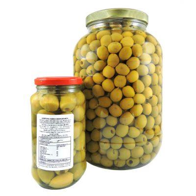 Aceituna verde deshuesada - Vegetales procesados Colombia - Globalim