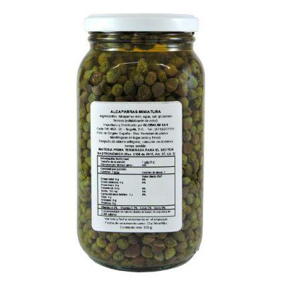 Alcaparra miniatura 500 gr - Vegetales procesados Colombia - Globalim